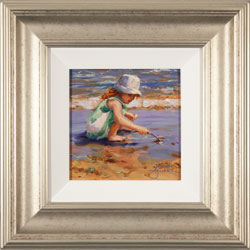 Amanda Jackson, Original oil painting on panel, Beach Play