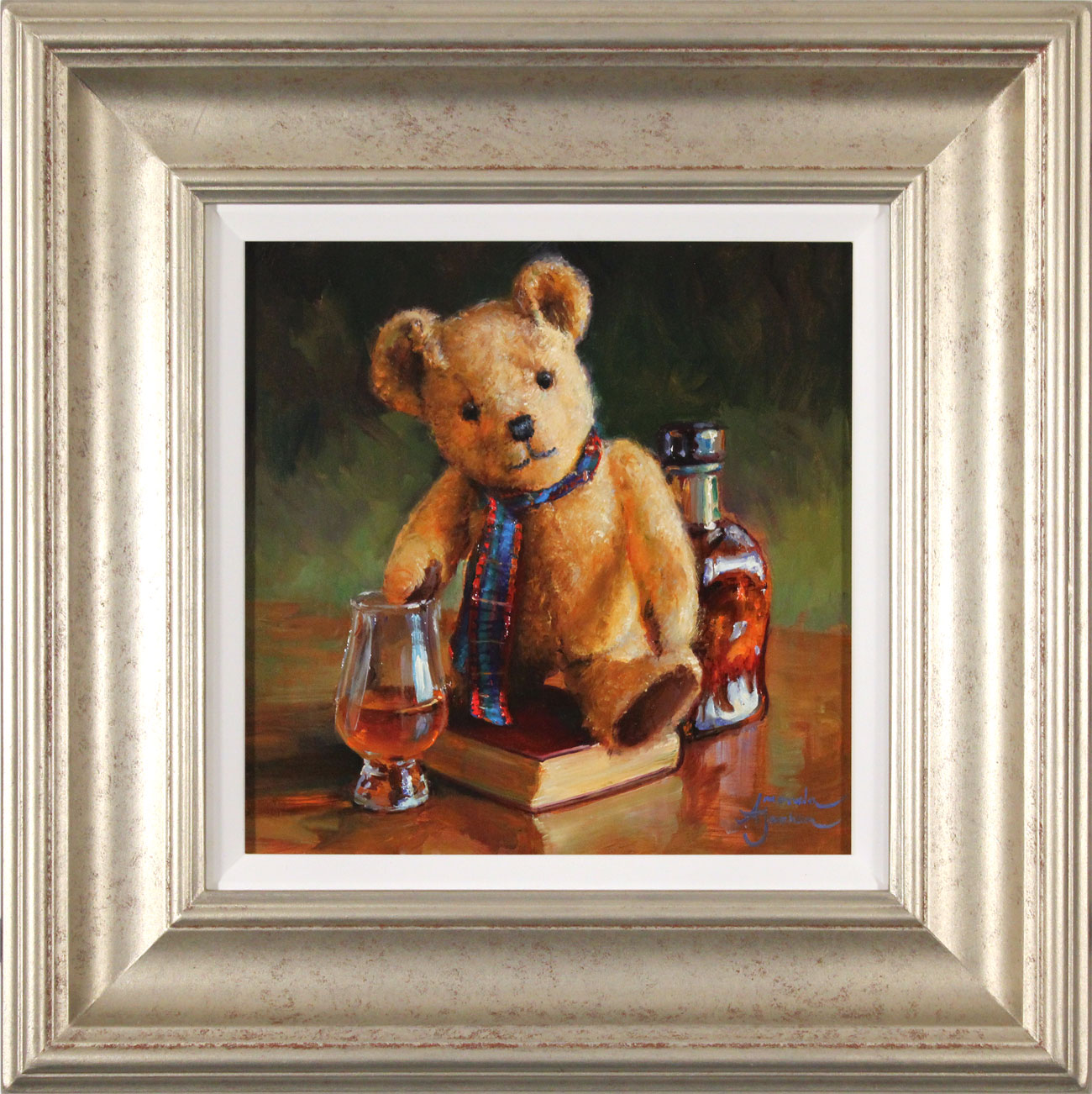 Amanda Jackson, Original oil painting on panel, The Whisky Connoisseur , click to enlarge