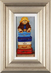 Amanda Jackson, Original oil painting on panel, Top of the World Travelling Bear