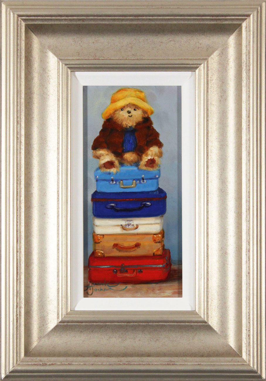Amanda Jackson, Original oil painting on panel, Top of the World Travelling Bear, click to enlarge
