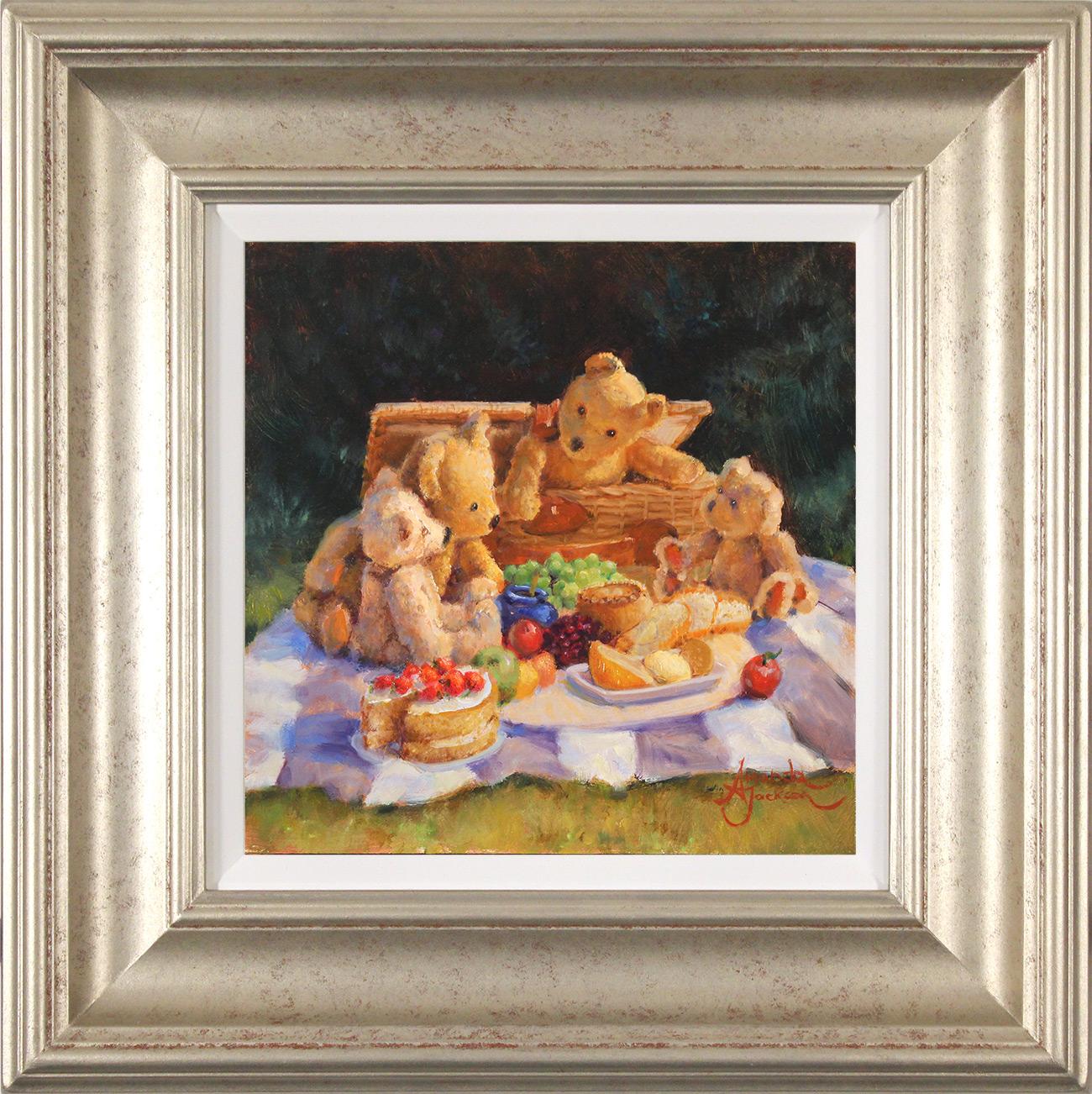 Amanda Jackson, Original oil painting on panel, Teddy Bear's  Picnic, click to enlarge