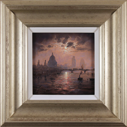 Andrew Grant Kurtis, Original oil painting on canvas, Thames Sparkle by Midnight