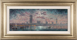 Andrew Grant Kurtis, Original oil painting on panel, Moonlight Sparkle, Westminster