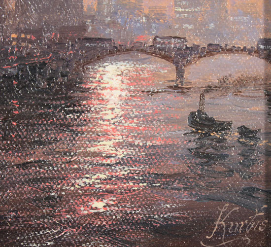 Andrew Grant Kurtis, Original oil painting on canvas, Thames Sparkle Signature image. Click to enlarge