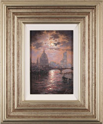 Andrew Grant Kurtis, Original oil painting on canvas, Thames Sparkle Large image. Click to enlarge