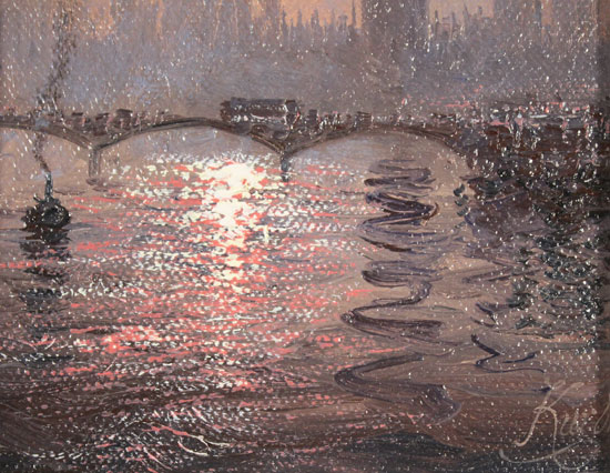 Andrew Grant Kurtis, Original oil painting on canvas, Westminster Chimes at Midnight Signature image. Click to enlarge