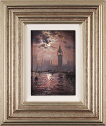 Andrew Grant Kurtis, Original oil painting on canvas, Westminster Chimes at Midnight Large image. Click to enlarge