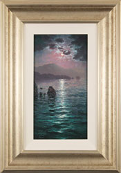 Andrew Grant Kurtis, Original oil painting on canvas, Moonlight Sparkle, Lakeland
