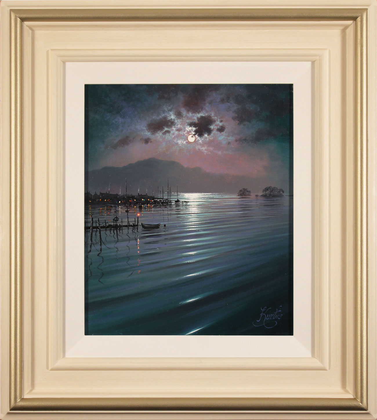 Andrew Grant Kurtis, Original oil painting on canvas, Nocturne Relfections, Lakeland. Click to enlarge