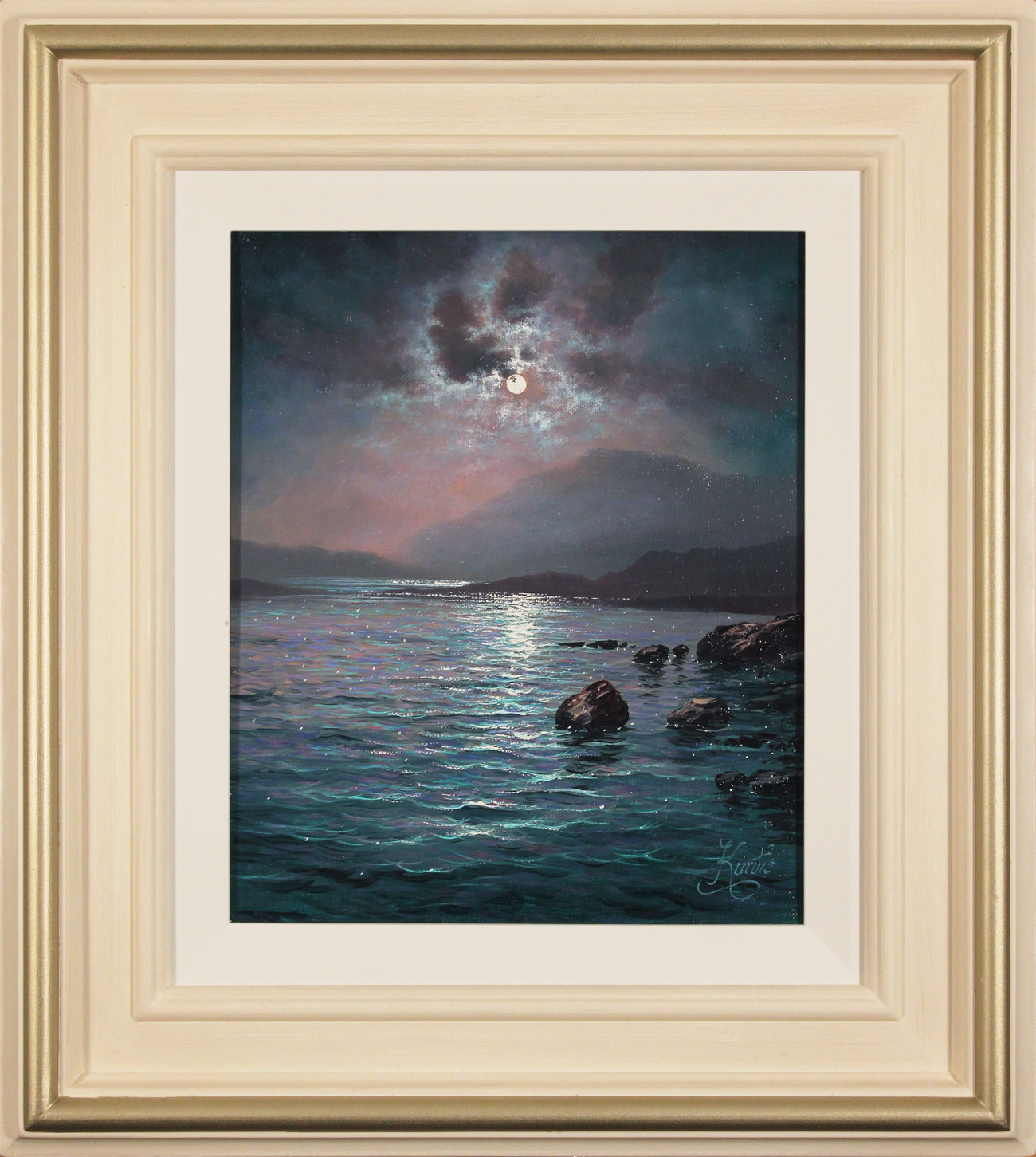 Andrew Grant Kurtis, Original oil painting on canvas, Lakeland Reflections, click to enlarge