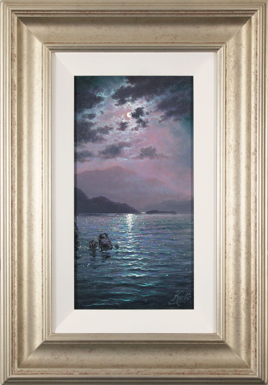 Andrew Grant Kurtis, Original oil painting on canvas, Moonlight Sparkle , click to enlarge