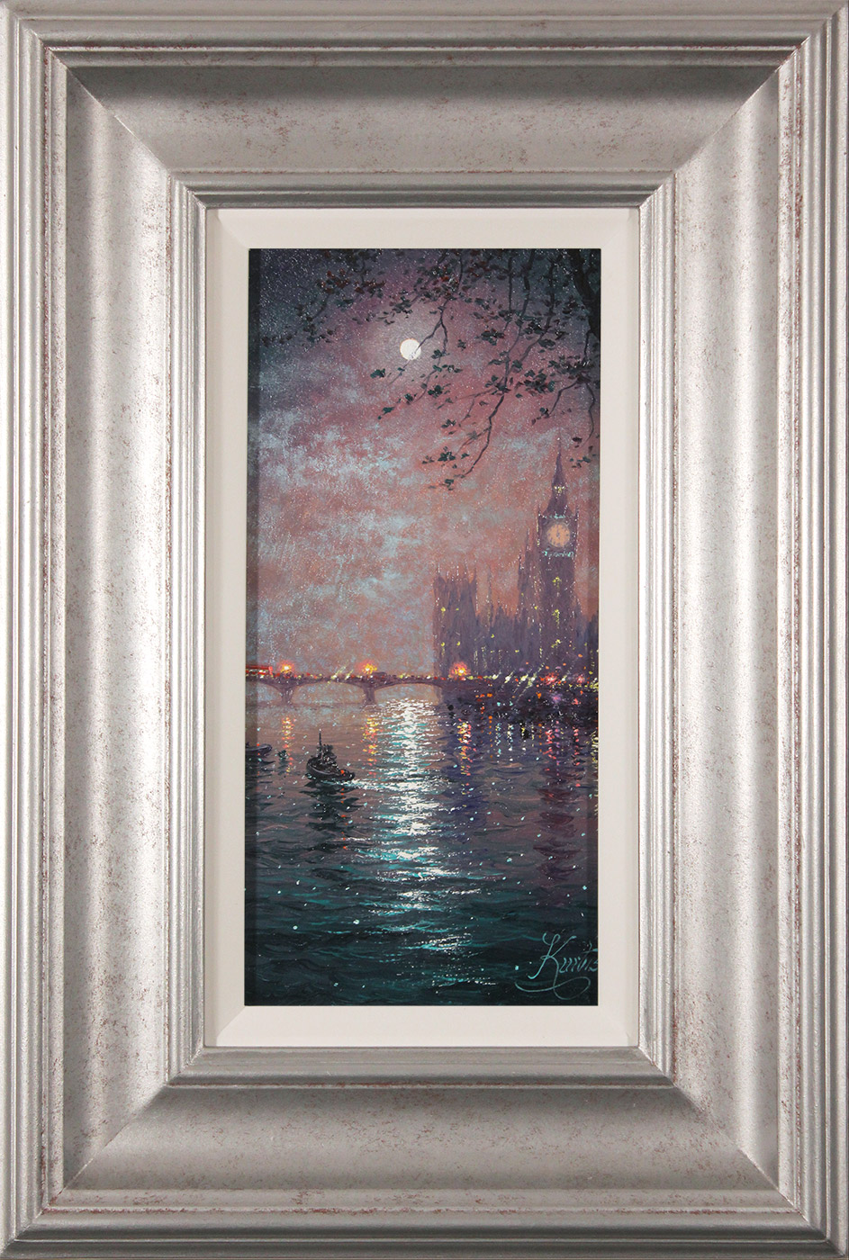 Andrew Grant Kurtis, Original oil painting on panel, Westminster Chimes at Midnight , click to enlarge