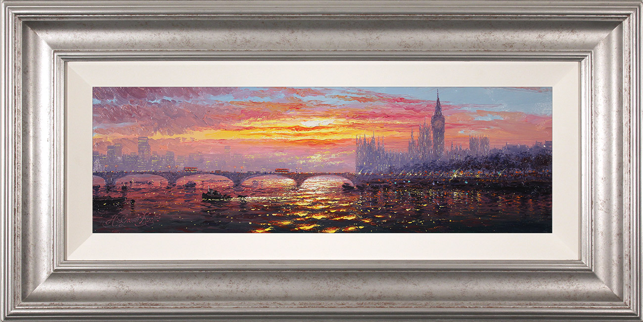 Andrew Grant Kurtis, Original oil painting on panel, Morning Haze across Westminster , click to enlarge