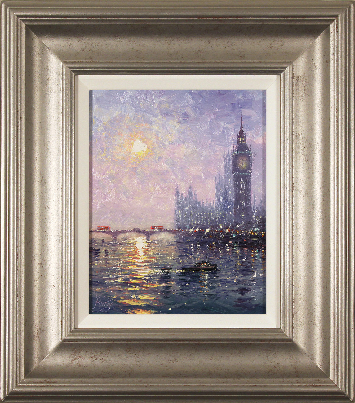 Andrew Grant Kurtis, Original oil painting on panel, Westminster Haze, click to enlarge