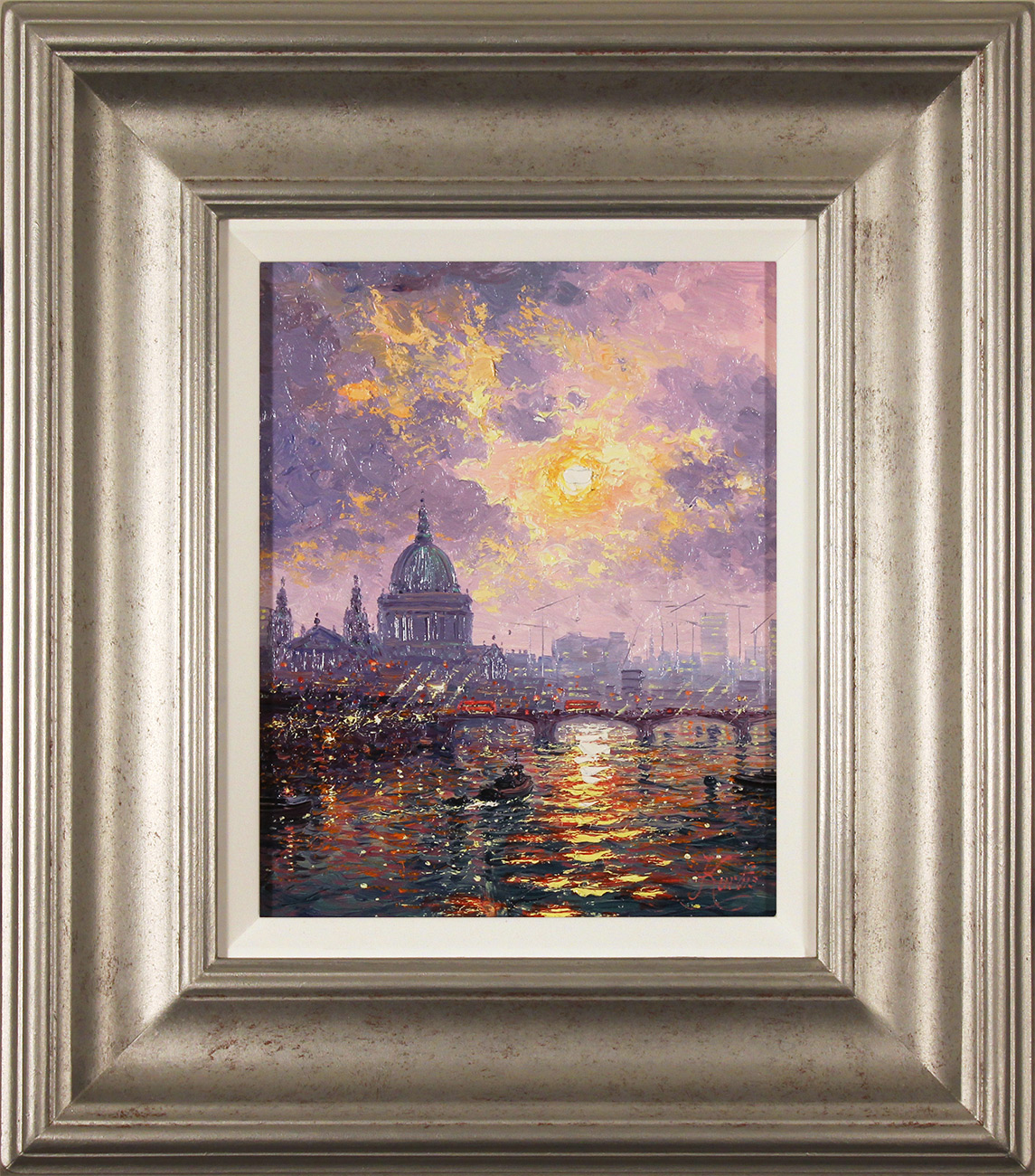Andrew Grant Kurtis, Original oil painting on panel, Thames Sparkle, click to enlarge