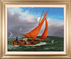 Andrew Stranack Walton, Original oil painting on canvas, Time to Head In Large image. Click to enlarge