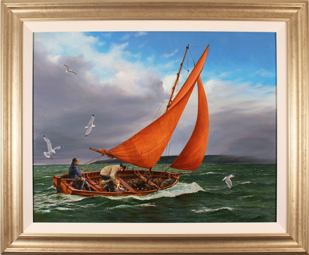Andrew Stranack Walton, Original oil painting on canvas, Time to Head In. Click to enlarge