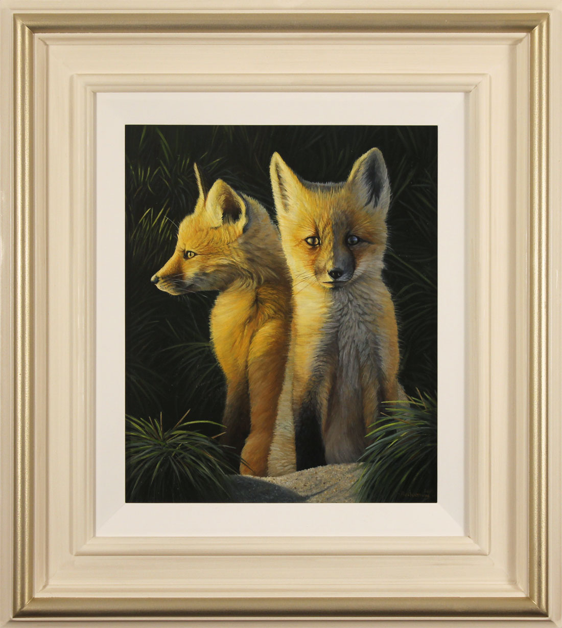 Ben Waddams, Original oil painting on panel, A Curious Pair. Click to enlarge