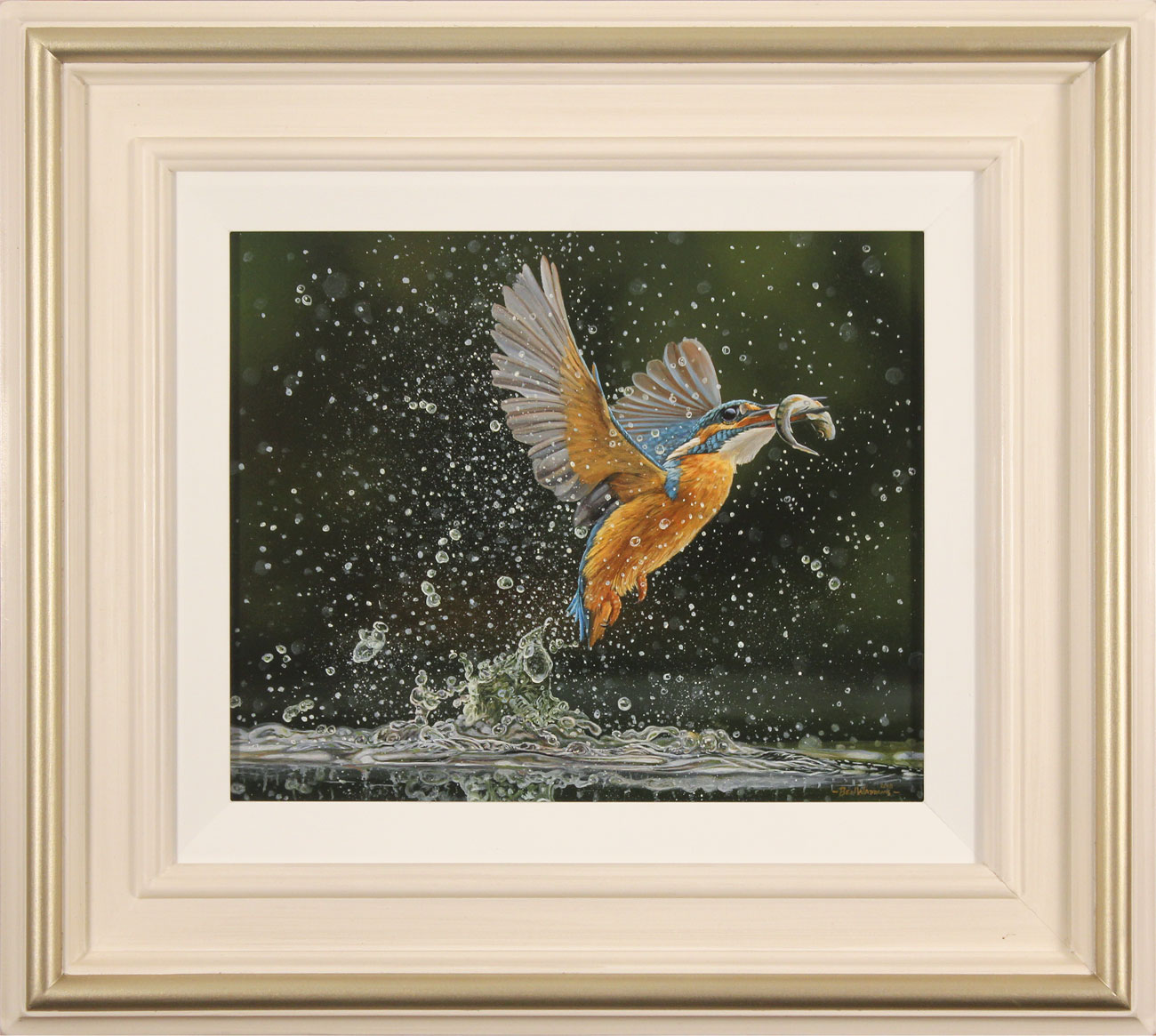 Ben Waddams, Original oil painting on panel, A Magnificent Catch. Click to enlarge