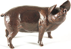 Michael Simpson, Bronze, Medium Gloucester Old Spot Large image. Click to enlarge