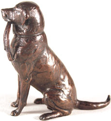 Michael Simpson, Bronze, Medium Labrador with Lead