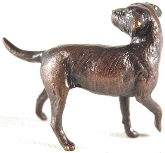Michael Simpson, Bronze, Border Terrier No frame image. Click to enlarge