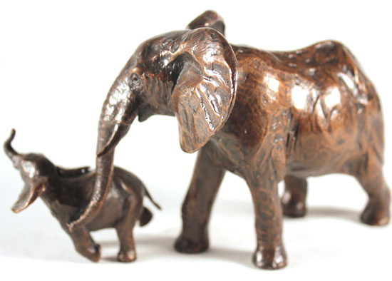 Michael Simpson, Bronze, Elephant Cow and Calf Without frame image. Click to enlarge
