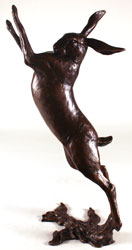 Michael Simpson, Bronze, Large Hare Boxing Large image. Click to enlarge