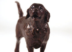 Michael Simpson, Bronze, Retriever Large image. Click to enlarge