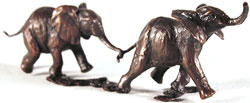 Michael Simpson, Bronze, Follow my Leader Large image. Click to enlarge