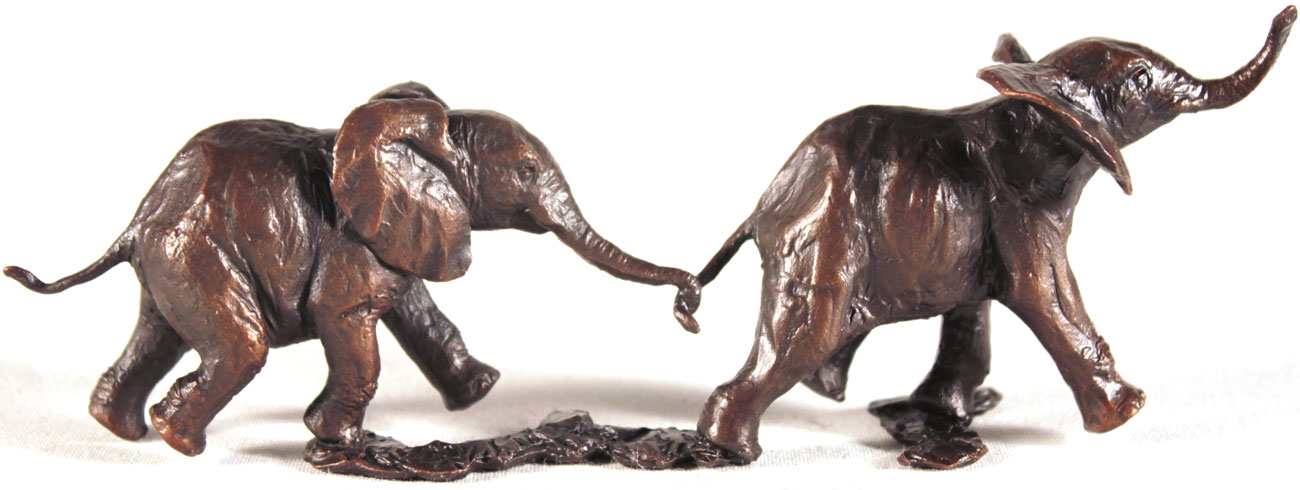 Michael Simpson, Bronze, Follow my Leader. Click to enlarge