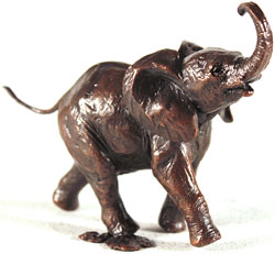 Michael Simpson, Bronze, Baby Elephant Running