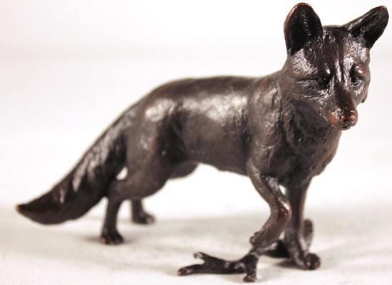 Keith Sherwin, Bronze, Fox Standing Without frame image. Click to enlarge