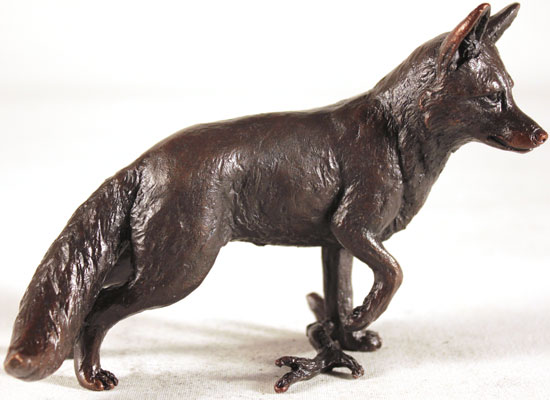 Keith Sherwin, Bronze, Fox Standing Signature image. Click to enlarge