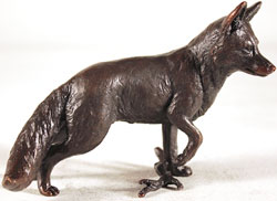 Keith Sherwin, Bronze, Fox Standing Large image. Click to enlarge