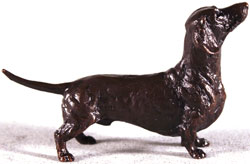 Michael Simpson, Bronze, Dachshund Large image. Click to enlarge
