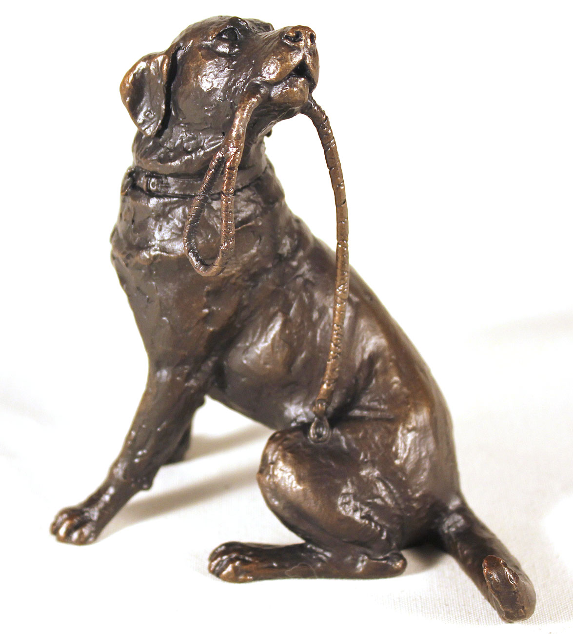 Michael Simpson, Bronze, Medium Labrador with Lead , click to enlarge