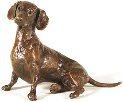 Michael Simpson, Bronze, Small Dachshund Sitting