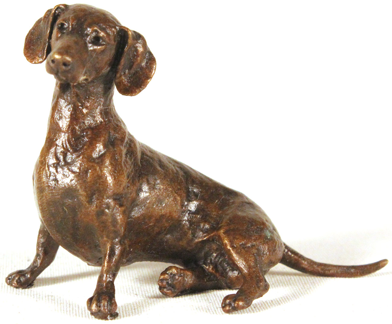 Michael Simpson, Bronze, Small Dachshund Sitting, click to enlarge