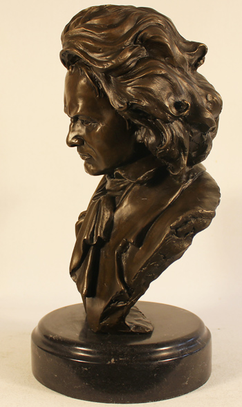 Bronze Statue, Bronze, Beethoven Without frame image. Click to enlarge