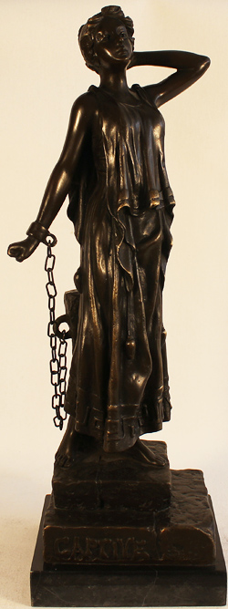 Bronze Statue, Bronze, Captive Without frame image. Click to enlarge