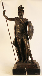 Bronze Statue, Bronze, Roman Soldier Large image. Click to enlarge