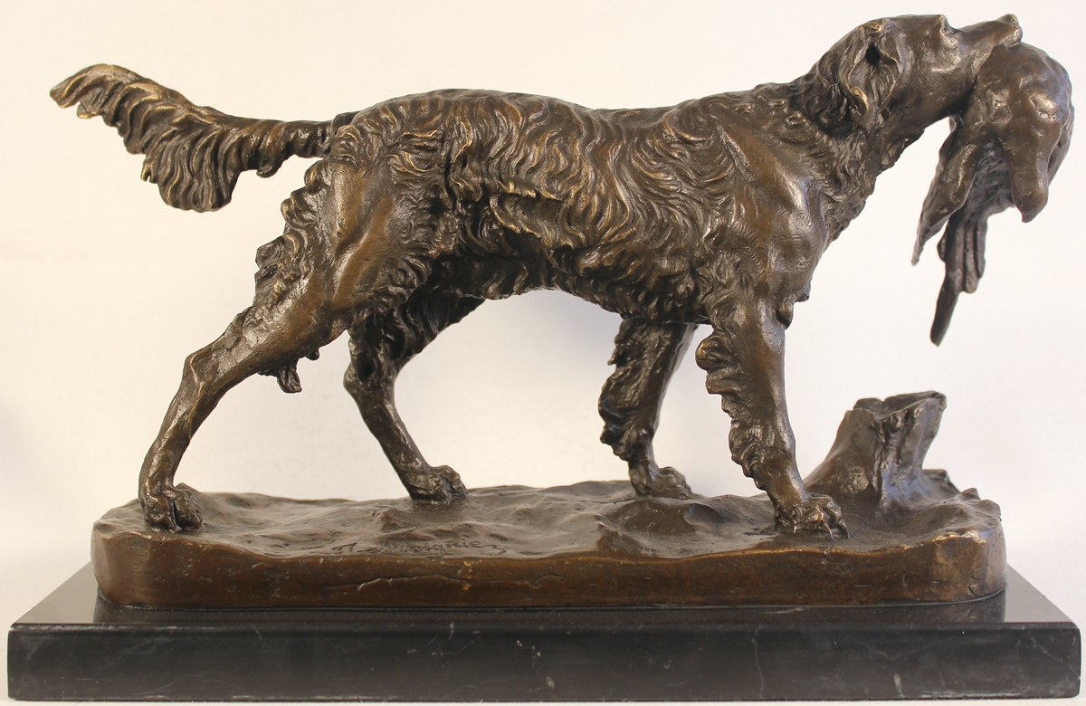 Bronze Statue, Bronze, Hunting Dog, click to enlarge
