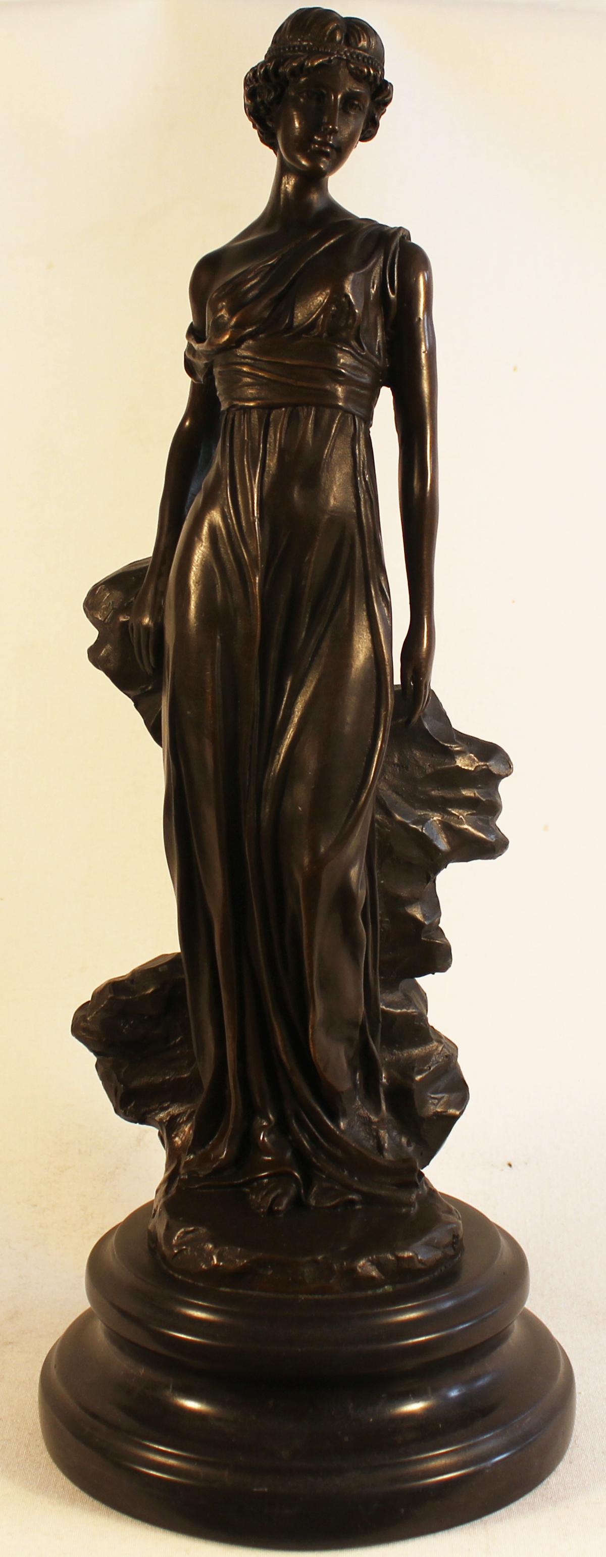 Bronze Statue, Bronze, Greek Woman. Click to enlarge