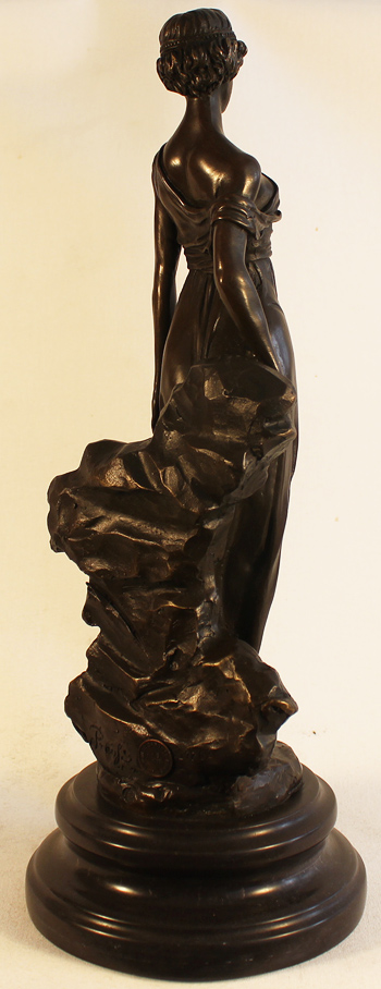 Bronze Statue, Bronze, Greek Woman Without frame image. Click to enlarge