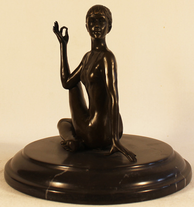 Bronze Statue, Bronze, Meditation Without frame image. Click to enlarge