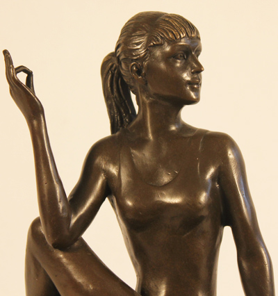 Bronze Statue, Bronze, Meditation Signature image. Click to enlarge
