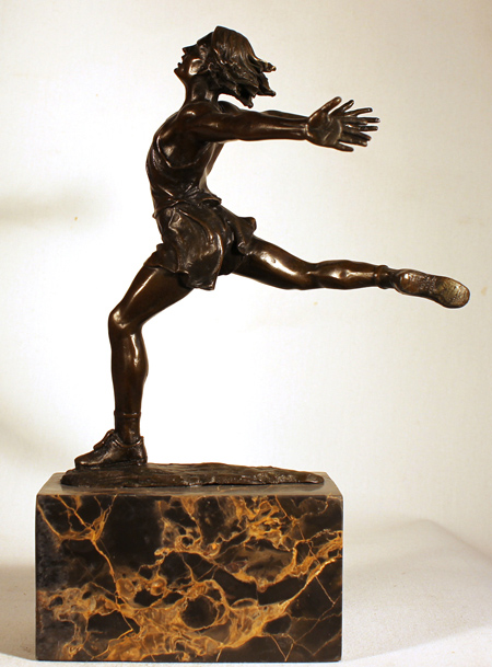 Bronze Statue, Bronze, Dancer Without frame image. Click to enlarge