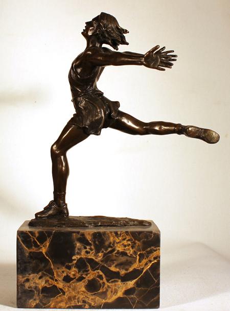 Bronze Statue, Bronze, Dancer No frame image. Click to enlarge