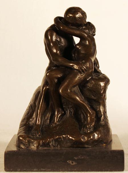 Bronze Statue Bronze The Kiss 3x5ins Art RefBRZ539